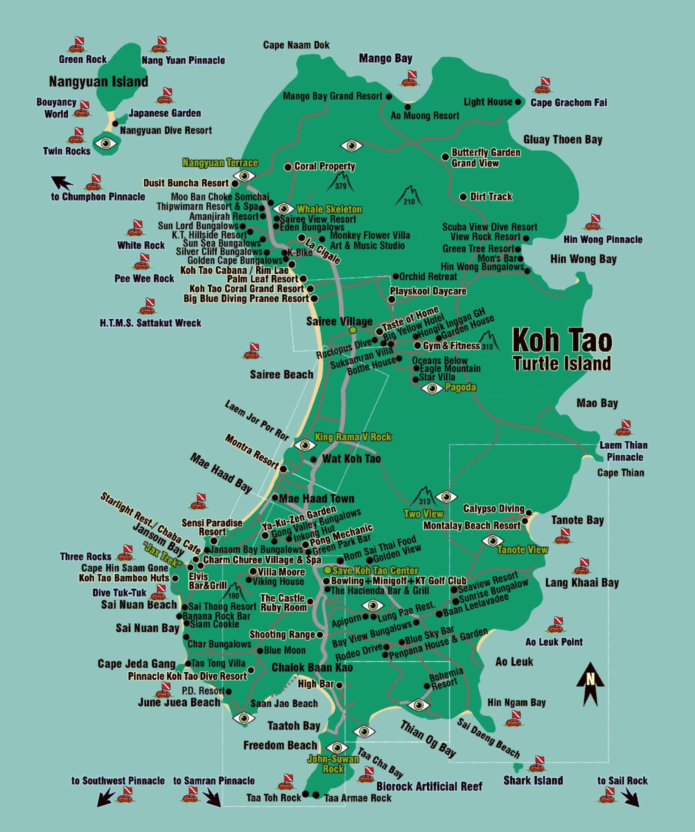 タオ島 マップ